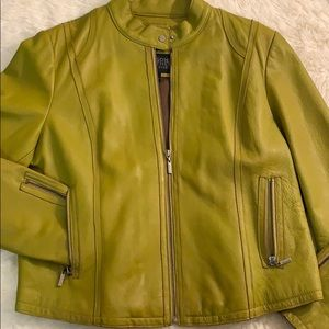 Wilson's Leather Pea Green Pelle Jacket -Brand New